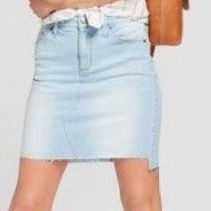 Universal Thread Raw Hem Denim Skirt